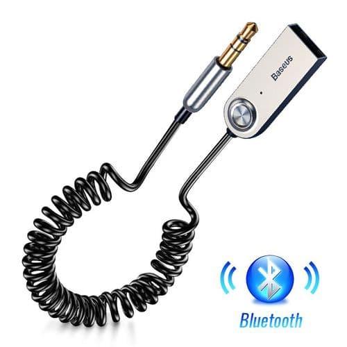 Câble Adaptateur Usb Récepteur Bluetooth 5.0 Baseus Pour Voiture 3.5Mm Jack Aux