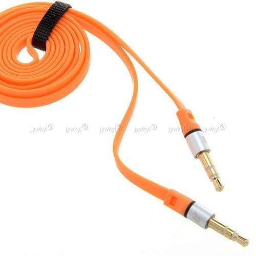 Câble Extension Rallonge Plat pour Ecouteur Mini jack 3,5mm Audio Mâle à Mâle 1m 189