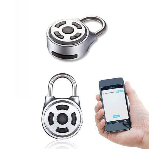 Cadenas À Empreinte Digitale Antivol Déverrouillage À Distance Par App Bluetooth