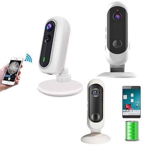 Caméra Alarme De Surveillance Sécurité Ip65 1080P Wi-Fi Avec Batterie Détecteur