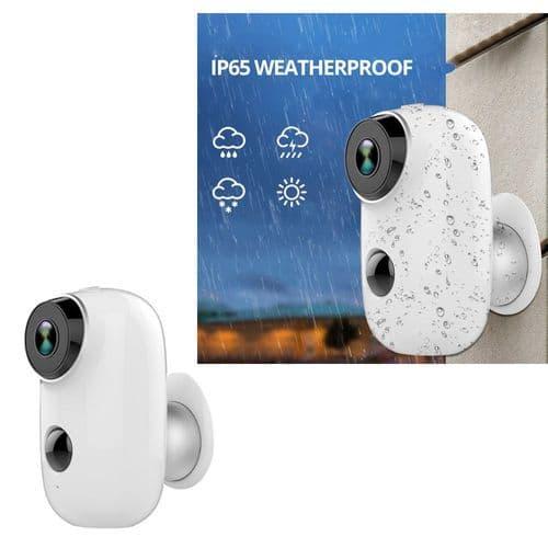 Caméra Ip65 Sans Fil Wi-Fi Avec Batterie Alarme Sans Fil Surveillance Sécurité