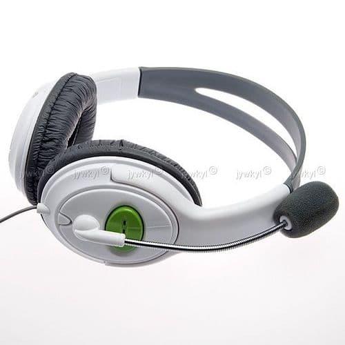 Casque Micro pour Console de Jeux Xbox 360 Manette Joypad