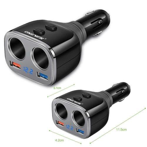 Chargeur Allume-Cigare De Voiture Qc3.0 Chargeur Rapide USB Smart Ic Chargeur