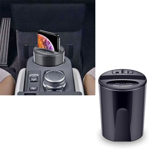 Chargeur De Batterie Qi Sans Fil 10W De Voiture Port Usb Pour Smartphone Mobile