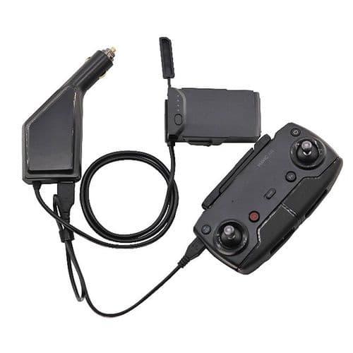 Chargeur De Voiture Allume-Cigare Pour Batterie Drone Dji Mavic Air Charge Usb