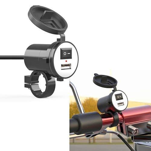 Chargeur Port Usb De Moto 12V À 5V Adaptateur Chargeur Pour Téléphone
