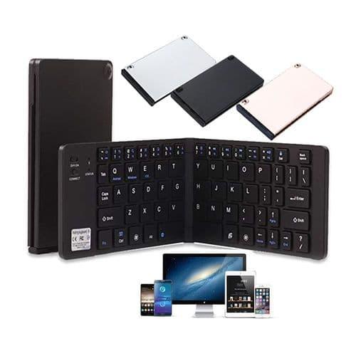 Clavier Ultra Mince Sans Fil Pliable Portable Bluetooth_English Qwerty