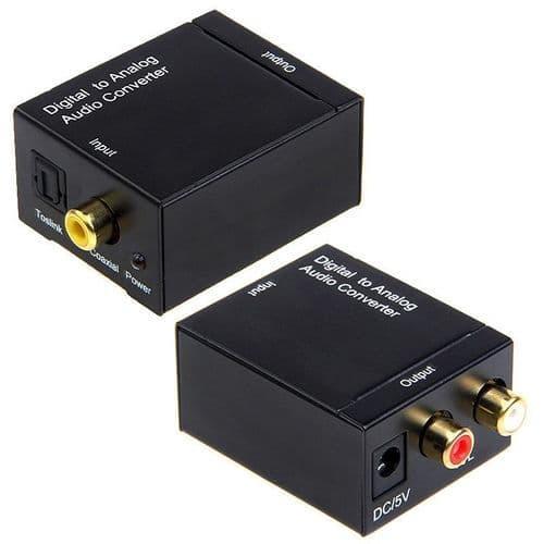 Coaxial Numérique Toslink Adaptateur Convertisseur vers Audio Analogique RCA L/R