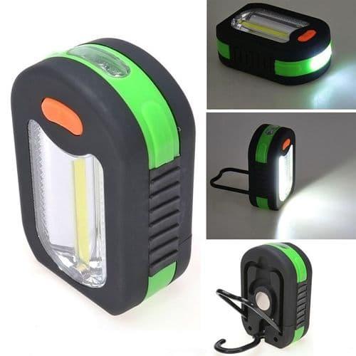 COB +3 LED Lampe de poche Portable Camping Lumière Crochet Magnétique GR