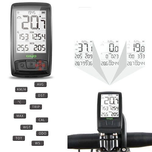 Compteur Kilométrique Speedomètre De Vélo Bicyclette Compteur Vitesse Sans Fil