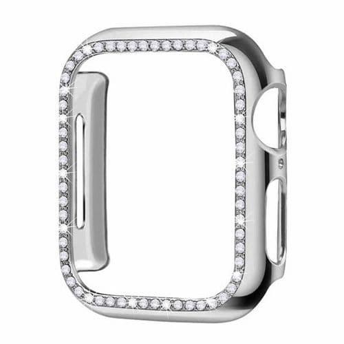 Coque De Protection Cristal Pour Apple Watch Modèle 44Mm Série 4 5_Argent