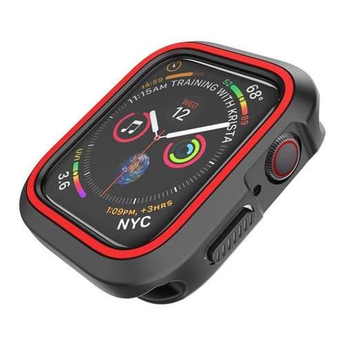 Coque De Protection En Silicone Pour Apple Watch Modèle 42Mm Série 1 2 3_Rouge