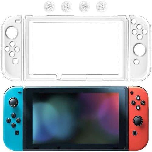 Coque Etui Protection Clair Transparent pour Jeu Console Nintendo Switch NS NX