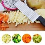 Couteau Fruits légumes acier inoxydable ustensiles lame dentelée vague