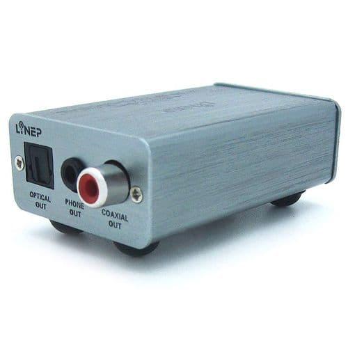 Décodeur Adaptateur Convertisseur USB Audio vers Optique Coaxial jack 3,5mm