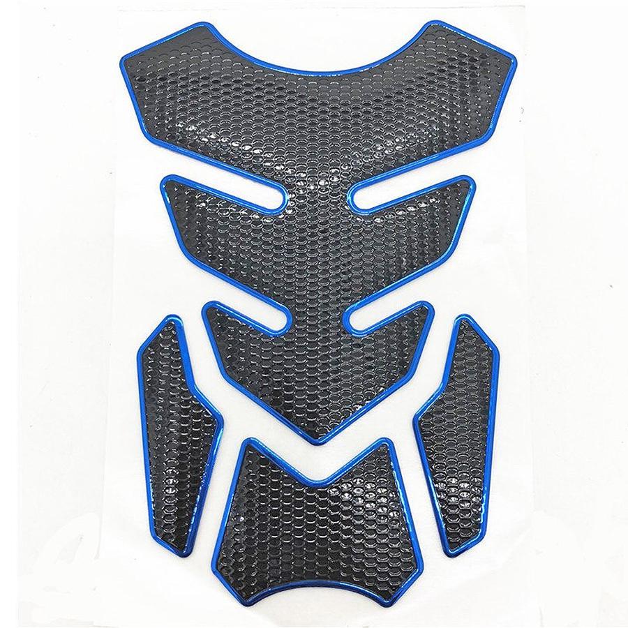Décoration Autocollant Film 3D  Pour Moto Sur Réservoir Déco Moto Noir Bleu