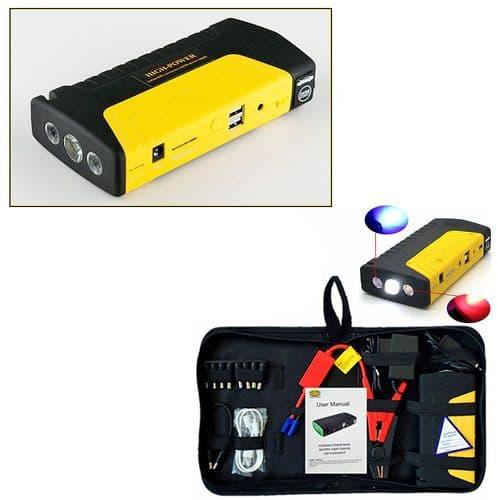 Démarreur Booster De Batterie 12V 600A Multifonctionnelle USB Batterie Secours