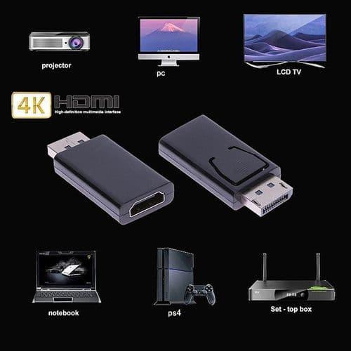 Display Port DP Mâle vers HDMI Femelle Convertisseur Adaptateur Connecteur Audio Vidéo