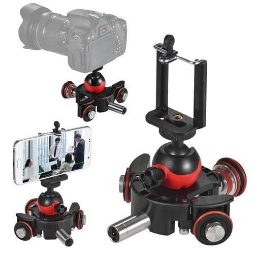 Dolly Motorisée  Tête Rotule Pour Téléphone Portable Caméra Vidéo Photo Dslr