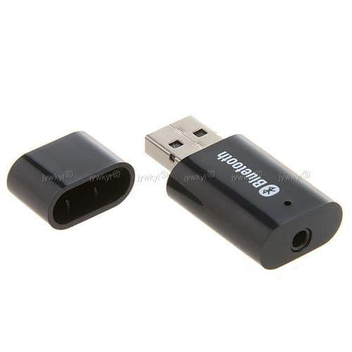 Dongle Bluetooth Récepteur avec Prise Audio Mini Jack 3.5mm Adaptateur USB_BK