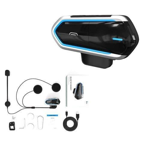 Ecouteurs Micro Fm Radio Opération Facile Sans Fil Bluetooth Pour Casque Moto