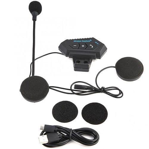 Ecouteurs Stéréo Micro Pour Casque De Moto Bluetooth Appels Mains-Libres