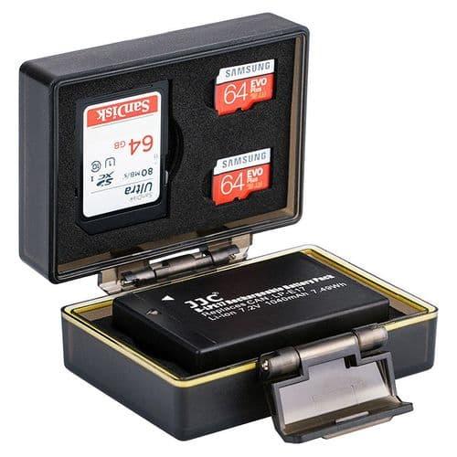 Etui Boîte de Protection pour Canon LP-E17 Batterie et Carte Mémoire SD Micro SD