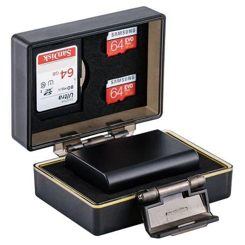 Etui Boîte de Protection pour Sony NP-FW50 Batterie et Carte Mémoire SD Micro SD