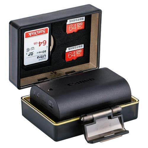 Etui Boîte Protection pour Batterie Appareil Photo et Carte Mémoire SD Micro SD