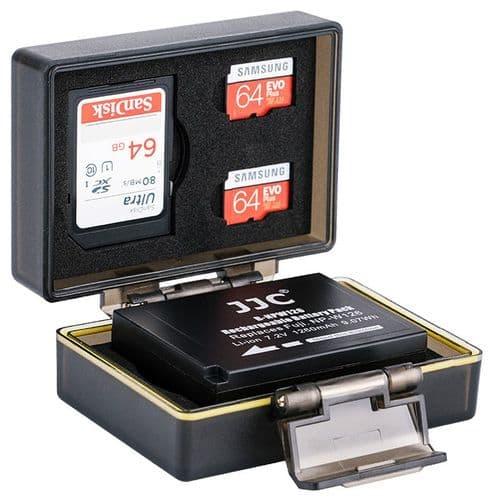 Etui Boîte Protection pour Fujifilm NP-W126 Batterie Carte Mémoire SD Micro SD