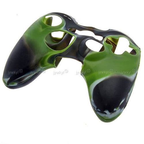 Etui Housse Silicone de Protection pour Manette Joypad Microsoft Xbox 360 Vert