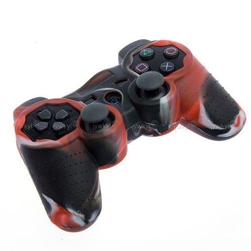 Etui Housse Silicone de Protection pour Manette Joypad Sony PS3 PlayStation3 Rouge