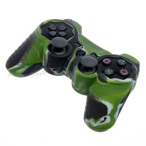 Etui Housse Silicone de Protection pour Manette Joypad Sony PS3 PlayStation3 Vert