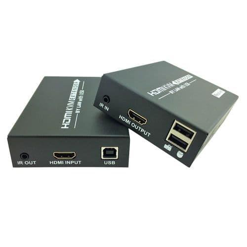 Extendeur Kvm Hdmi 120M Ir Sur Câble Ethernet Cat 5/6 Soutien Clavier Souris
