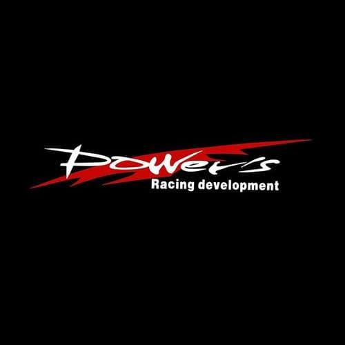 Film Autocollant Décoration Voiture Déco Auto Sticker Uv Résist Power Racing Wh