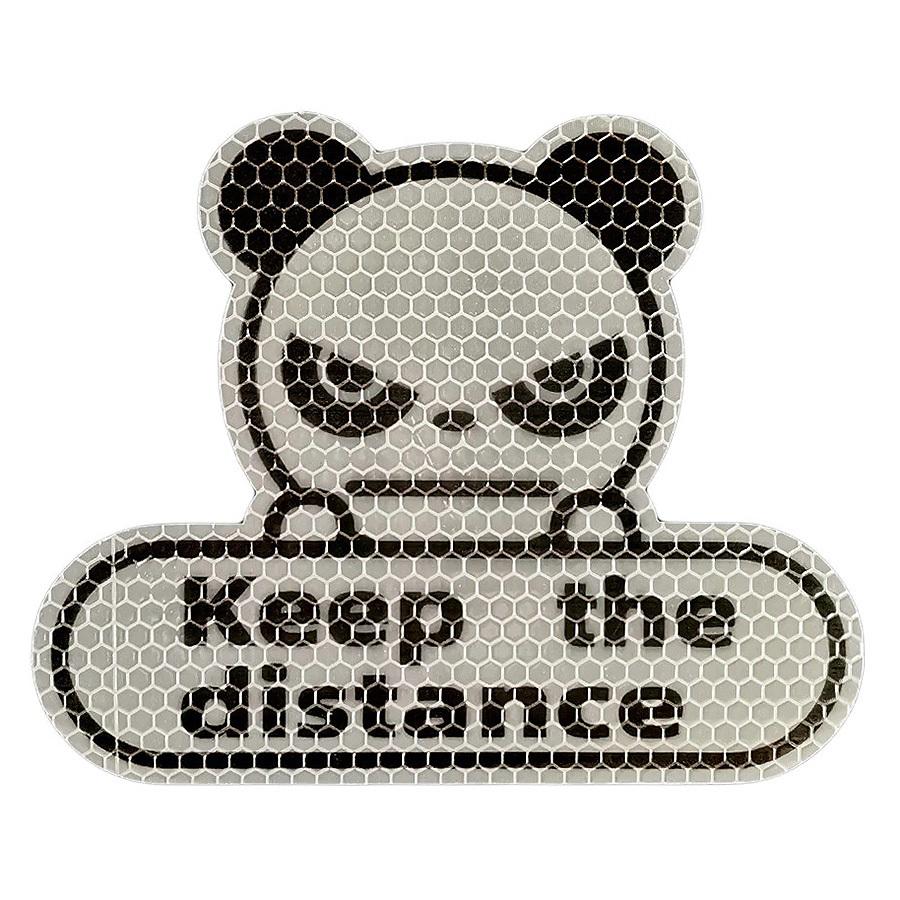 Film Autocollant Voiture Déco Auto Sticker Panda Garder Distance Fluorescent Wh