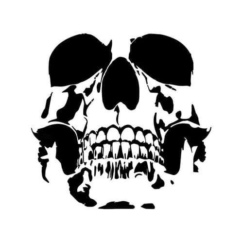 Film Autocollant Voiture Déco Auto Sticker Uv Résistant Crâne 15.6X15.2Cm 2Pcs
