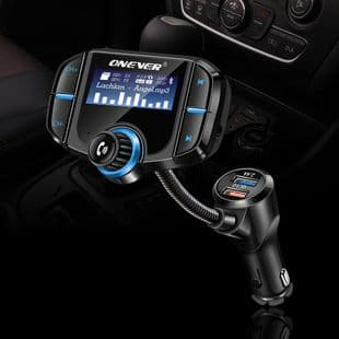 FM Transmetteur Bluetooth USB Charge Rapide Mains Libres Kit Voiture TF Siri