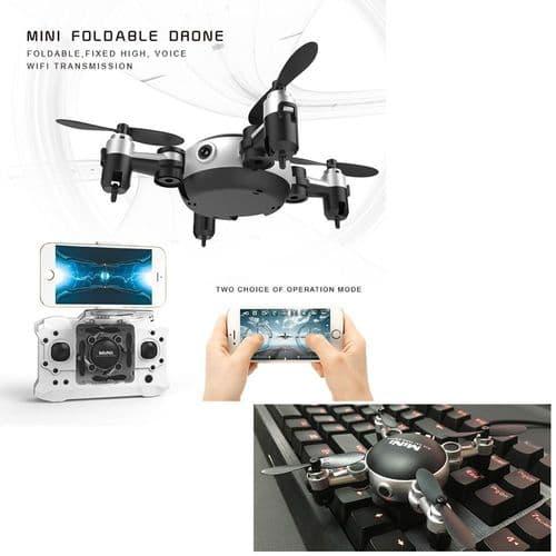 FPV Caméra Photo Vidéo Drone Contrôle par Mobile Wi-Fi Transmission RC 6.8cm