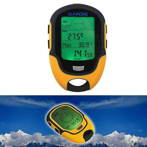 FR500 Digital Altimètre Baromètre Thermomètre Compas Portable Multifonctions