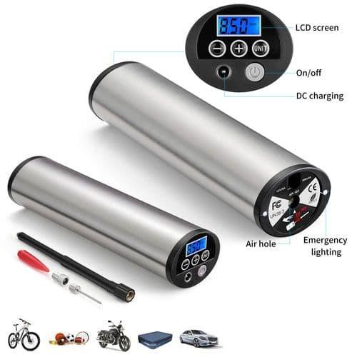 Gonfleur Électrique Portatif Pompe Compresseur Air Pour Vélo Voiture Moto 150Psi