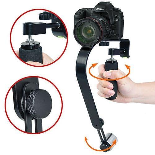Grip Poignée Stabilisation pour Vidéo Caméra Caméscope Appareil Photo Stabilisateur