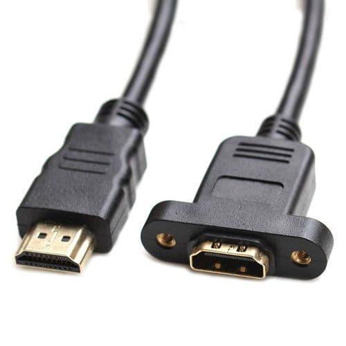 HDMI v1.4 Mâle Vers Femelle 1080p Adaptateur D'extension Moniteur Projecteur 1M