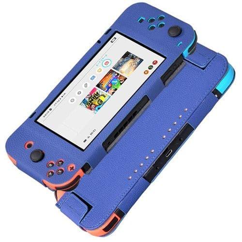 Housse de Protection Etui pour Console de jeux Nintendo Switch PU Cuir BU