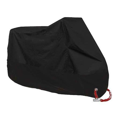 Housse Imperméable Protection Contre Poussière Pluie Pour Scooter Moto /Noir