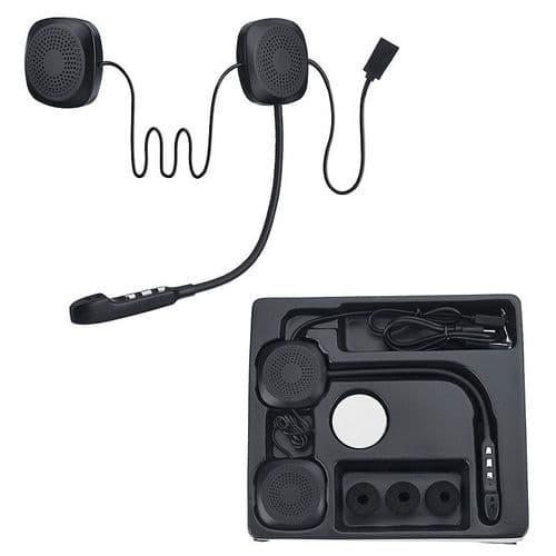 Intercom Sans Fil Bluetooth Anti-Interférence Pour Casque Moto Mains-Libres