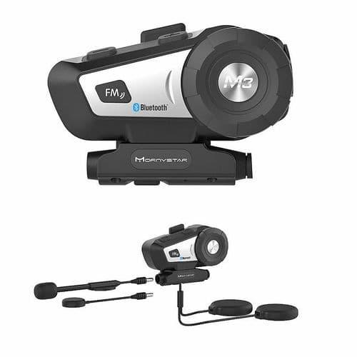 Interphone Fm De Casque De Moto Bluetooth M3 Pour Casque Intégral / 1Pc