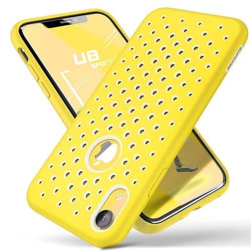Ip121_Coque Protection Mobile Pour Iphone XR_Liquide Silicone Caoutchouc Pc