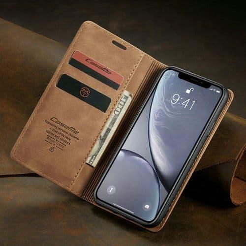 Ip163_Coque Protection Mobile Frontale Et Dorsale Pour Iphone XS Max_Retro Cuir