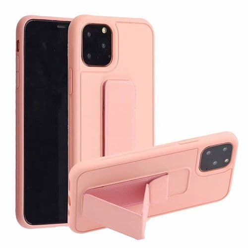 Ip247_Coque De Protection Pour Iphone 11 Pro Liquide Silicone_Pied Support